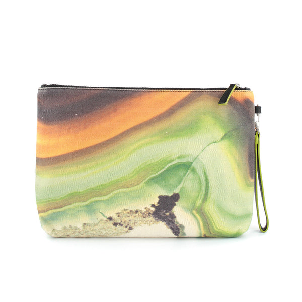 Hard Swirls Clutch - Green Swirl