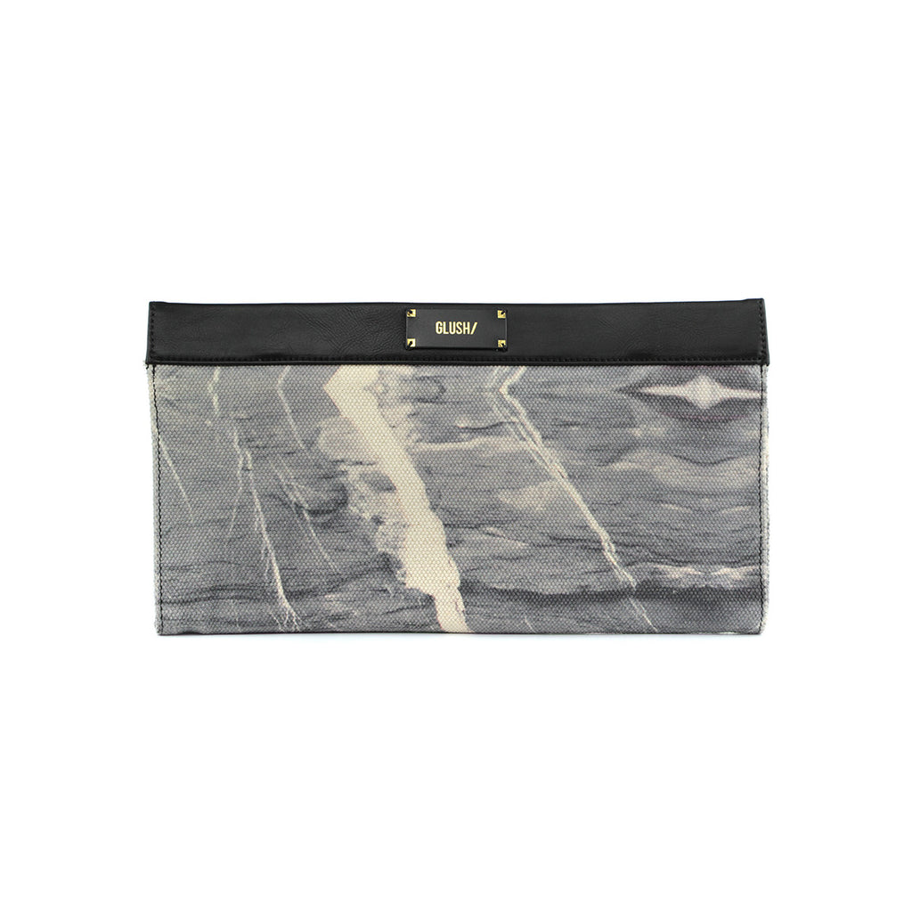 Hard Rays Sleek Clutch - Grey Marble