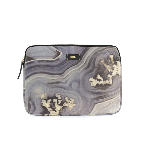 Hard Swirls Laptop Case - Grey Swirls