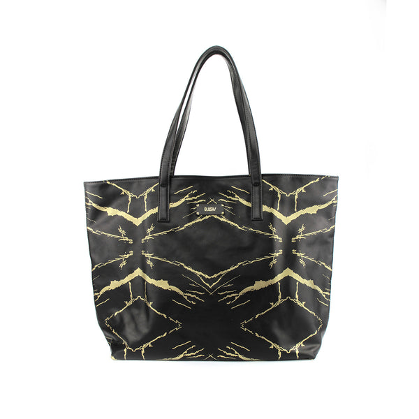 Hard Rays Travel Tote - Black Gold