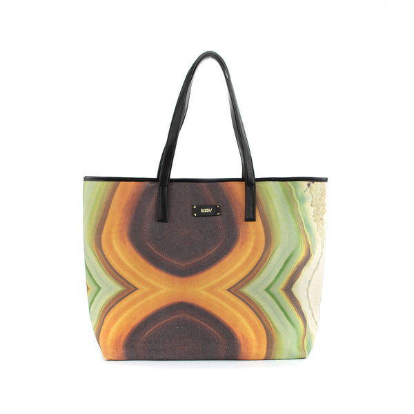 Hard Rays Travel Tote - Green Swirls