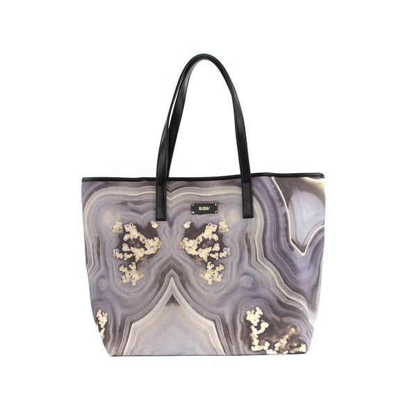 Hard Rays Travel Tote - Grey Swirls