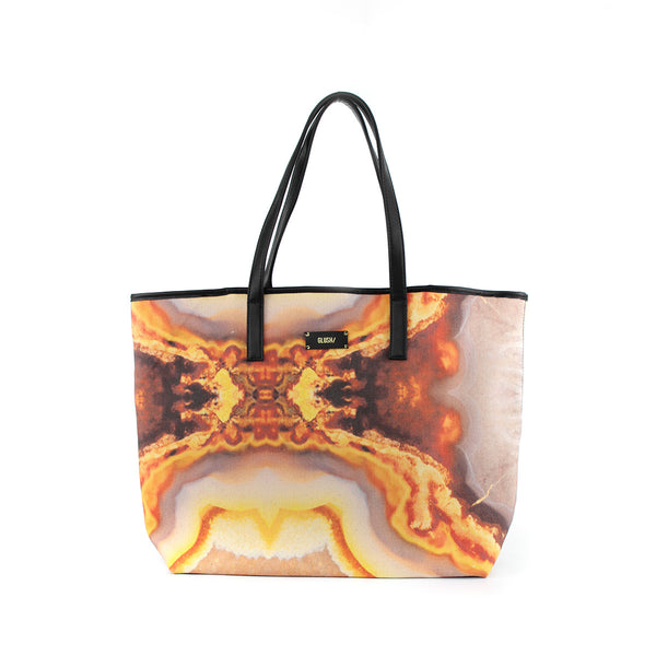 Hard Rays Travel Tote - Orange Swirls