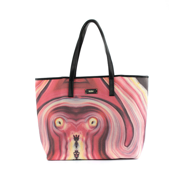 Hard Rays Travel Tote - Red Swirls