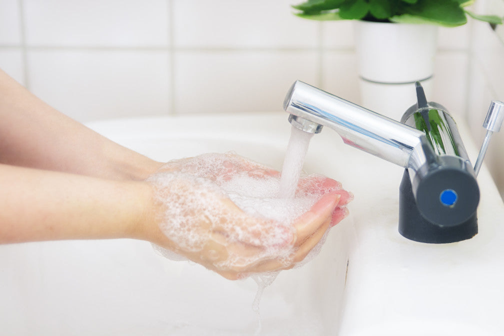 Washing Hands with Soap for 20 seconds