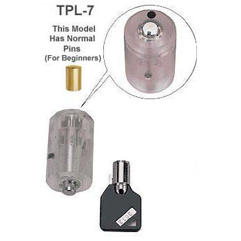 Clear Practice Tubular Lock - Standard Pin Version - UKBumpKeys