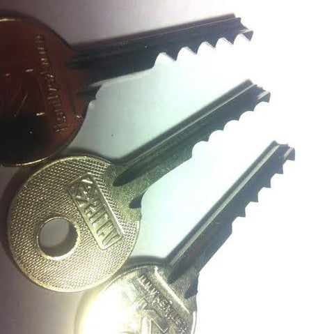 3 Piece Ultimate Bump Key Set For Lock Bumping Reverse