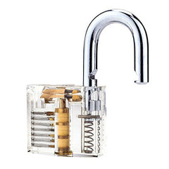 Clear Practice Padlock with Visible Mechanism - Ideal for Lock Picking Training