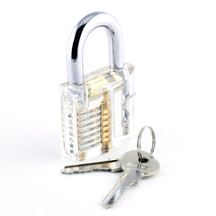 Transparent Practice Padlock for Lockpick Training with Keys