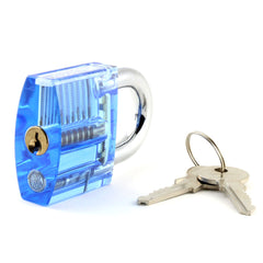 Lokko Spool pin medium practice padlock shackle closed with keys 2