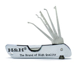 H&H Pocket Lock Pick Set Multi Tool: Swiss Army JackKnife - UKBumpKeys