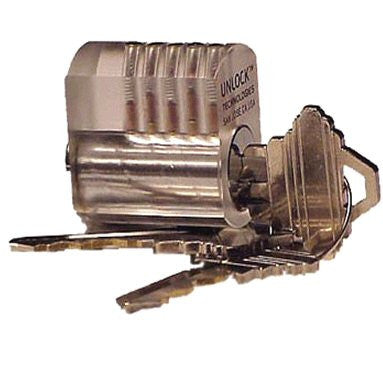 SouthOrd Clear Plastic Practice Lock - st-34