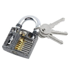 Cut Away 7-Pin Practice Padlock for Lock Picking - UKBumpKeys