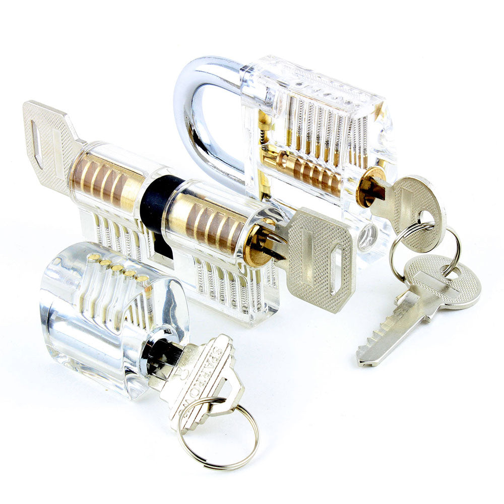 Dangerfield Selection of 3 Locks - Above View