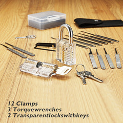 Lokko Set with two training locks on wooden background