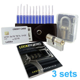 Lock Pick Set Beginners Box: Lock Picks, Spy Card, Training Locks and How-to Pick Locks eBook