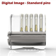 clear acrylic practice lock standard pins side