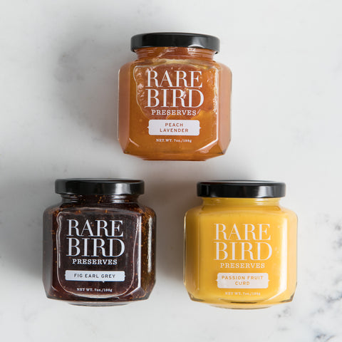 Set of 3 Jars - Rare Bird Preserves