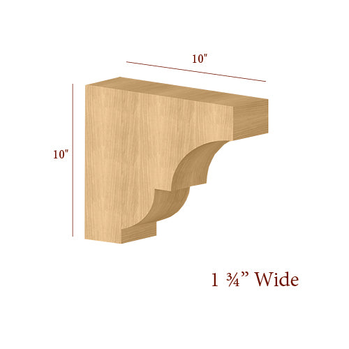 Narrow Craftsman Overhang Bar Bracket