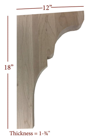 Bridge to Hutch Solid Wood Lexington Bar Bracket
