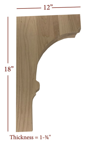 Bridge to Hutch Solid Wood Nantucket Bar Bracket