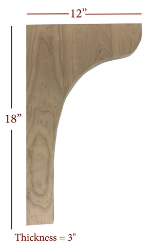 Bridge to Hutch Wide Plain Bar Bracket