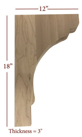 Bridge to Hutch Wide Scalloped Bar Bracket