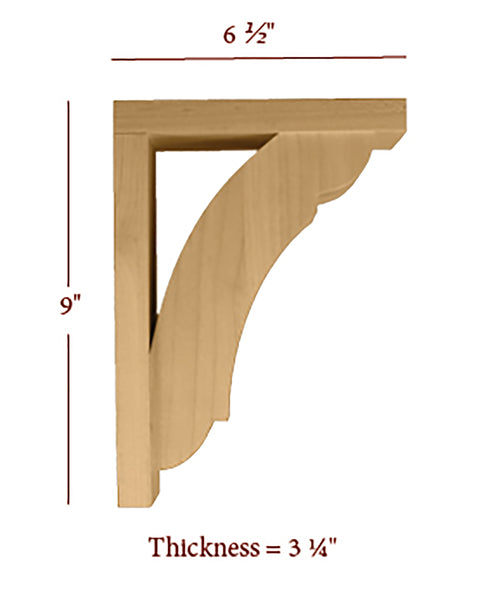 Medium Manchester Hollow Back Bar Bracket