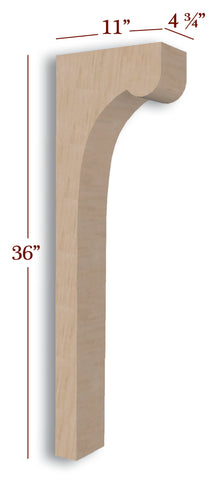 Cove Trim to Height Low Profile Island Corbel or Hood Corbel