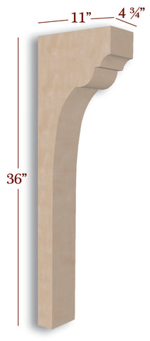 Providence Trim to Height Low Profile Island Corbel or Hood Corbel
