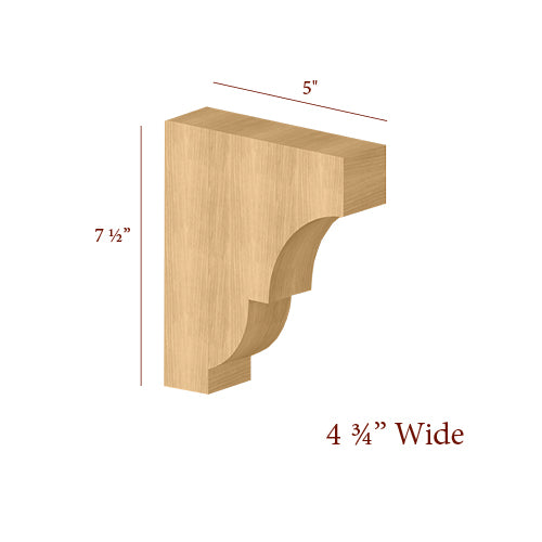 Extra Wide Craftsman Small Bar Bracket