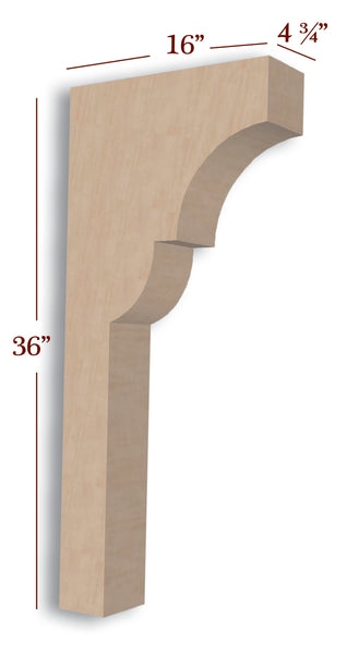 Craftsman Trim to Height Massive Island Corbel or Hood Corbel