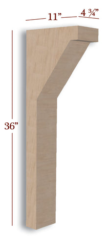 Cortez Trim to Height Low Profile Island Corbel or Hood Corbel