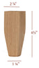 "4.5"" Tapered Wide Shaker Furniture Foot"