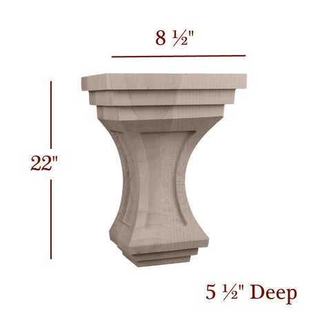 Extra Large Liberty Corbel With Windows