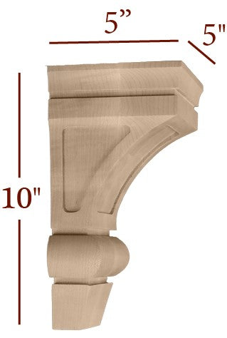 Small Maverick Contemporary Standard Corbel With Window
