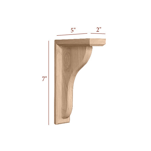 Small Plain Traditional Bar Bracket