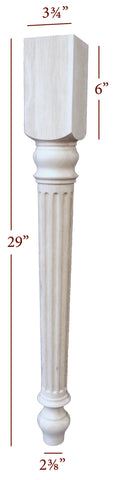 Lincoln Fluted Dining Table Leg