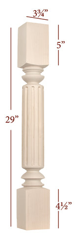 Large Fluted Madison Dining Table Leg