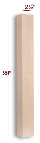 "29"" Slender Skyline Furniture Table Leg"