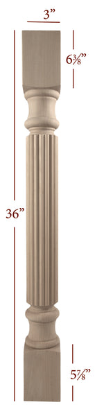 Small Essential Reeded Island Leg