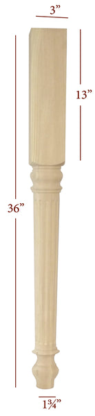 Small Fluted Lincoln Island Leg