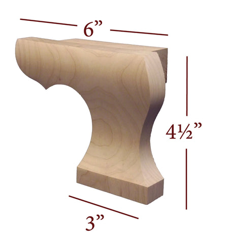 Large Right Curved Edge Pedestal Foot