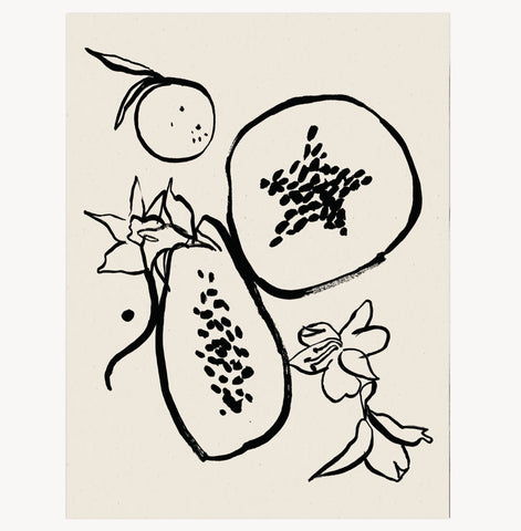 Les Fruits Art Print