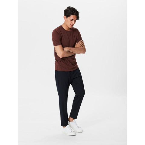 THE PERFECT FIT PIMA COTTON TEE - CHOCOLATE