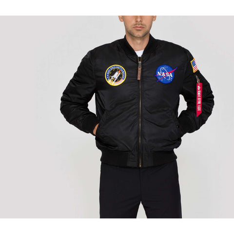 MA-1 NASA BOMBER JACKET - BLACK