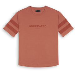 TONAL PRINT SHORT SLEEVED TEE - RUST