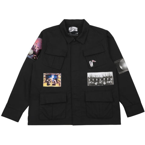 MILITARY PATCH OVERSHIRT - BLACK