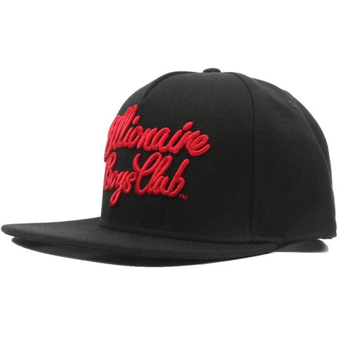 SCRIPT LOGO SNAP BACK - BLACK/RED