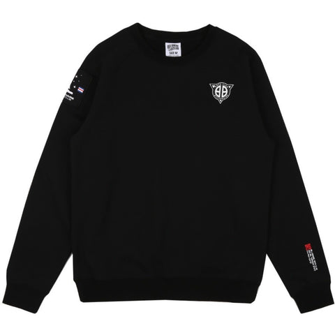 SOLAR SAILING CREWNECK - BLACK